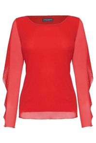 James Lakeland Frill Sleeve Top