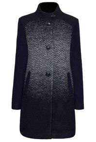 James Lakeland Herringbone Wool Coat