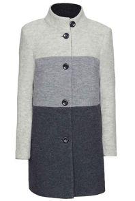 James Lakeland 3 Colour Wool Coat