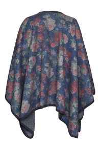 James Lakeland Boiled Wool Floral Cape