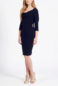 James Lakeland 3/4 Sleeve Side Ruched Dress