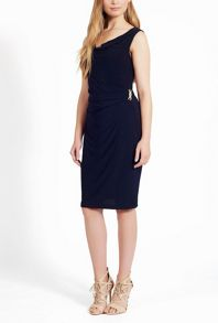 James Lakeland Sleeveless Side Ruched Dress
