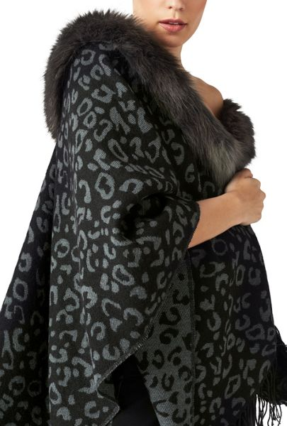 James Lakeland Faux Fur Poncho