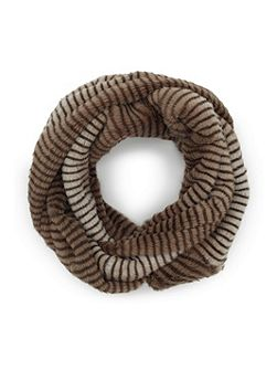 Faux Fur Stripey Snood