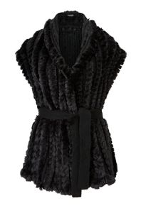 James Lakeland Faux Fur Gilet With Belt