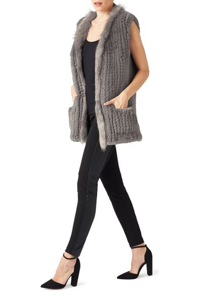 James Lakeland Faux Fur Gilet