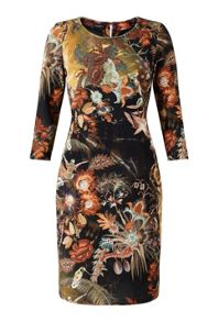 James Lakeland Print Velvet Dress