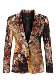 James Lakeland Print Velvet Jacket