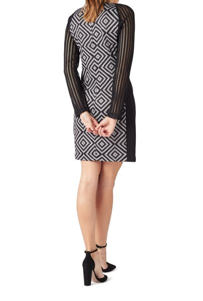 James Lakeland Geometric Long Sleeve Dress