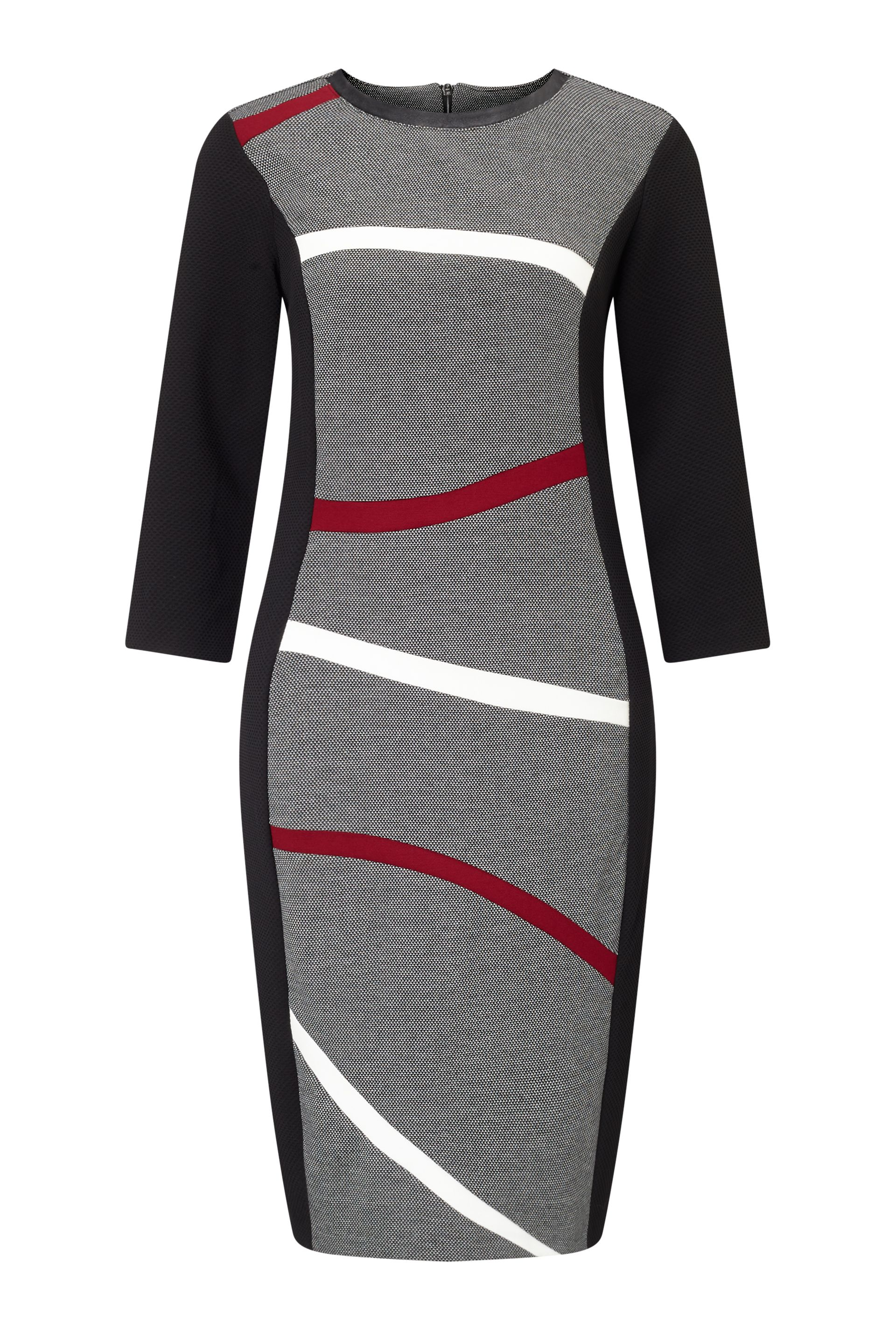 James Lakeland Wavey Stripe Dress, Black