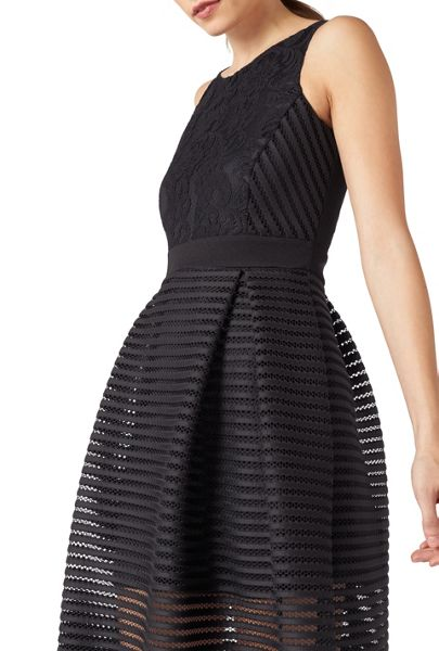 James Lakeland Front Lace Fit And Flare Dress