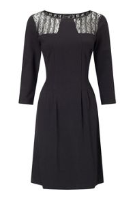 James Lakeland Lace Insert 3/4 Sleeve Dress