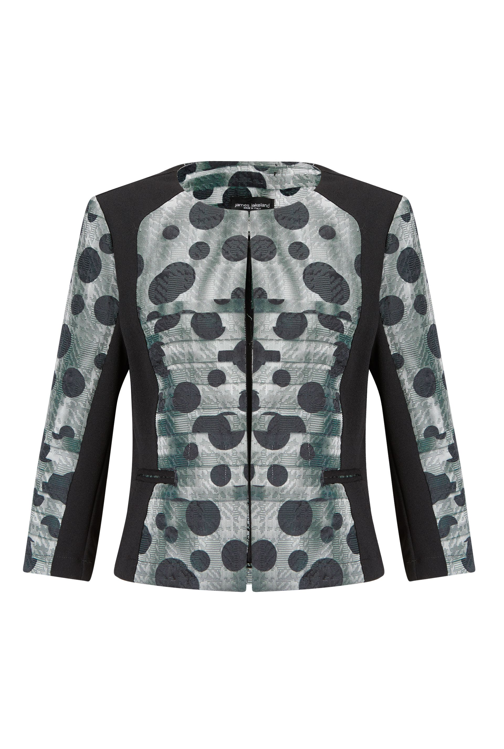 James Lakeland Dots Print Jacket, Grey