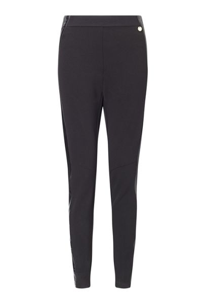 James Lakeland Faux Leather Insert Trouser