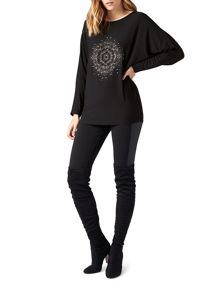 James Lakeland Studded Batwing Top