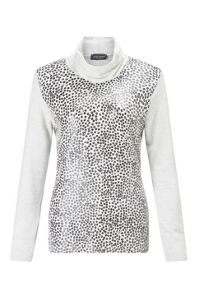 James Lakeland Printed Polo Neck