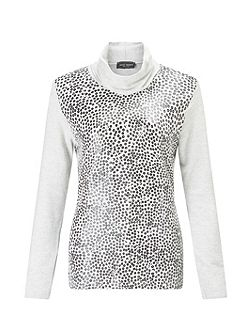 Printed Polo Neck