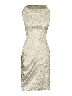 Metallic Textured Sleeveless Dress