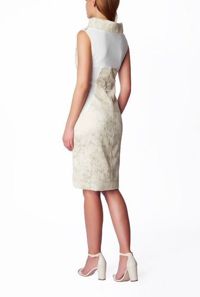 James Lakeland Metallic Textured Sleeveless Dress