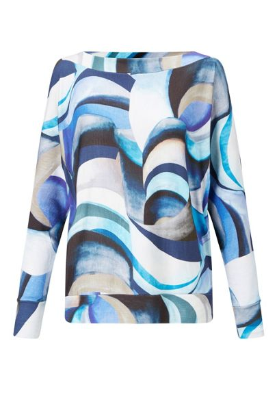 James Lakeland Bat Sleeve Print Top