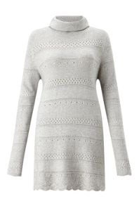 James Lakeland Crochet Knit Polo Neck Jumper
