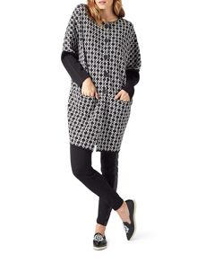 James Lakeland Knitted Jacquard Coat