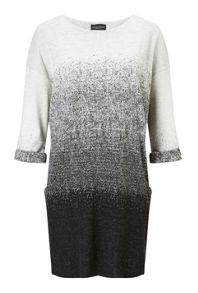 James Lakeland Jacquard 3/4 Sleeve Dress