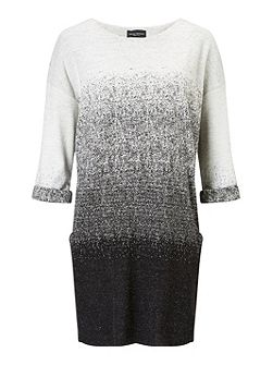 Jacquard 3/4 Sleeve Dress