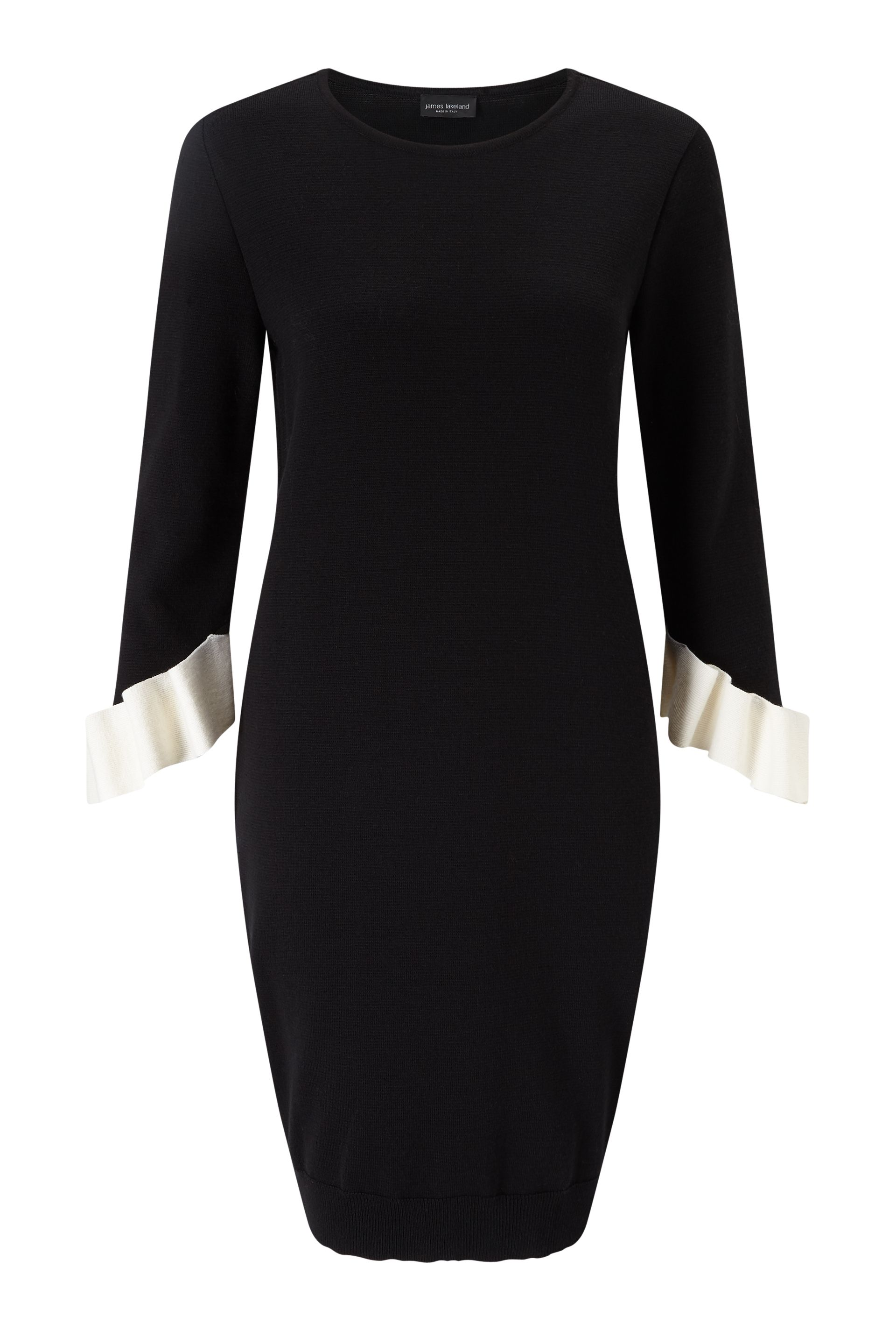 James Lakeland Dress With Frill Sleeves, Black