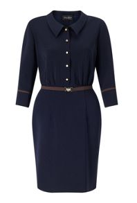 James Lakeland Bicolor Shirt Dress