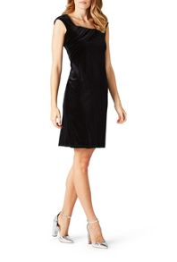 James Lakeland Side Ruched Velvet Dress