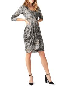 James Lakeland Pleat Print Dress