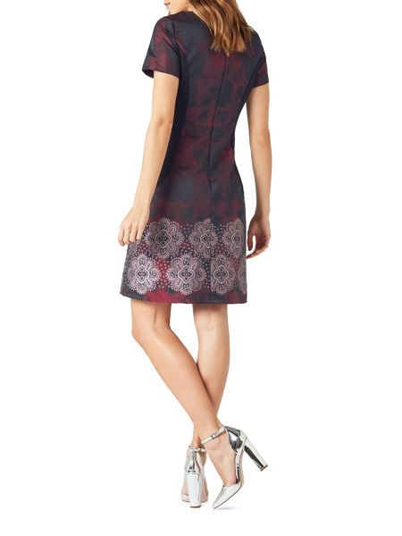 James Lakeland Embroidered Taffeta Dress