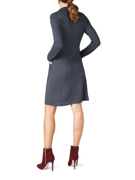 James Lakeland Cowl Neck Pockets Dress