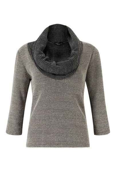 James Lakeland Cowl Neck Knit Top