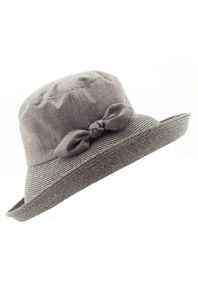 James Lakeland Wide-Brim Contrasting Fabric Hat With Bow