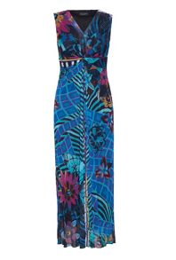 James Lakeland Printed Maxi Knot Dress