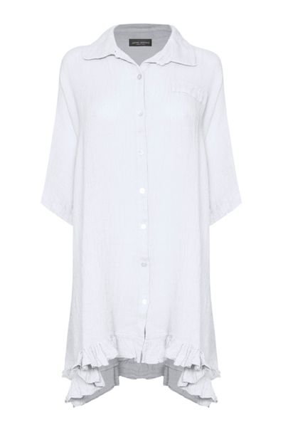 James Lakeland Long Length Linen Shirt
