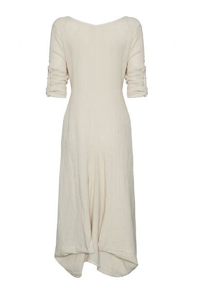 James Lakeland Button Sleeve Long Dress