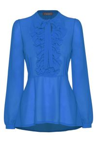 James Lakeland Long Sleeve Frill Blouse