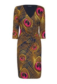 James Lakeland 1/2 Moon Abstract Print Dress