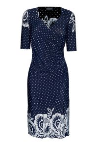 James Lakeland Ruched Wrap Dress