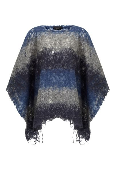 James Lakeland Bi Colour Knitted Poncho