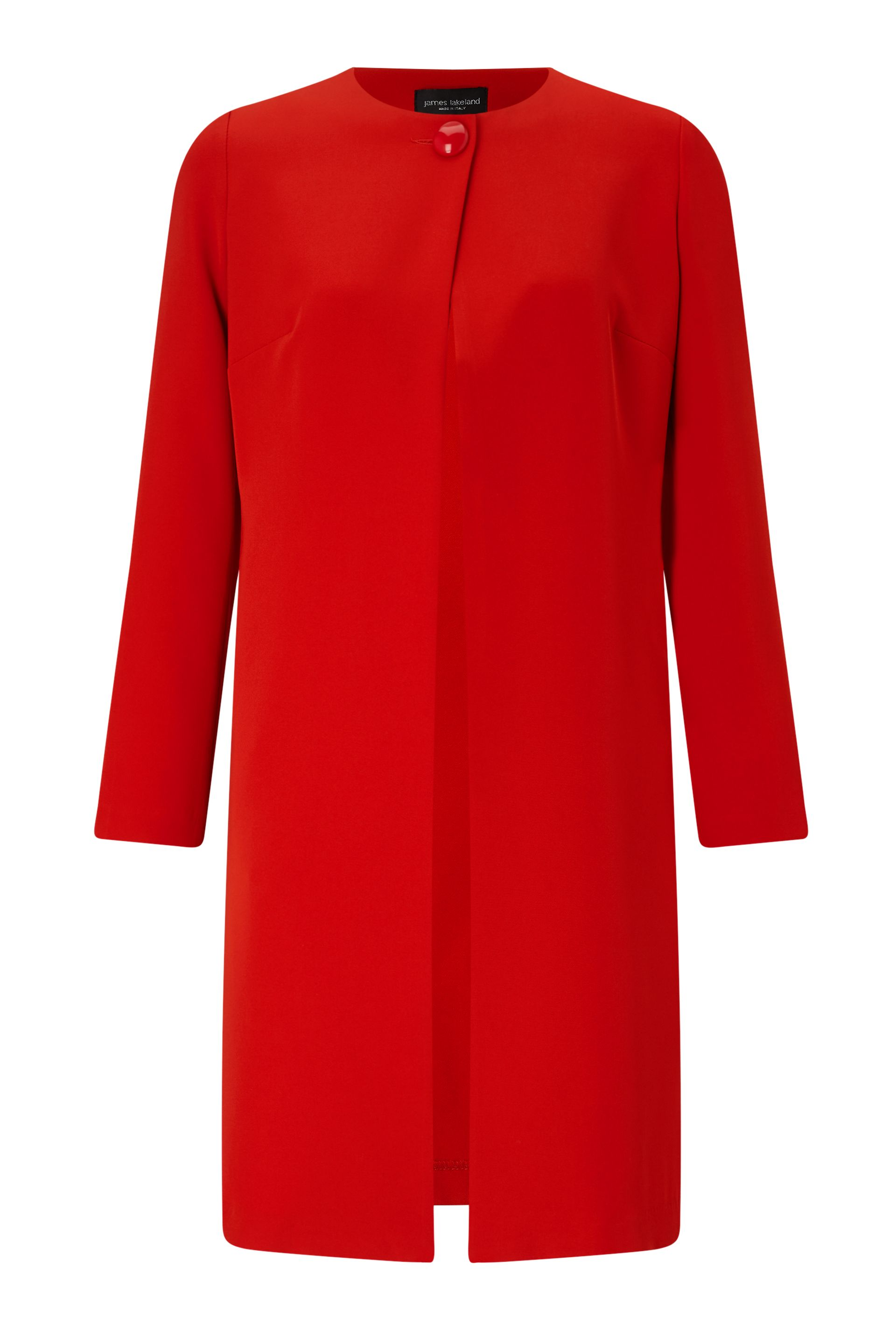 James Lakeland One Button Crepe Coat, Red