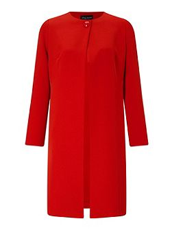 One Button Crepe Coat