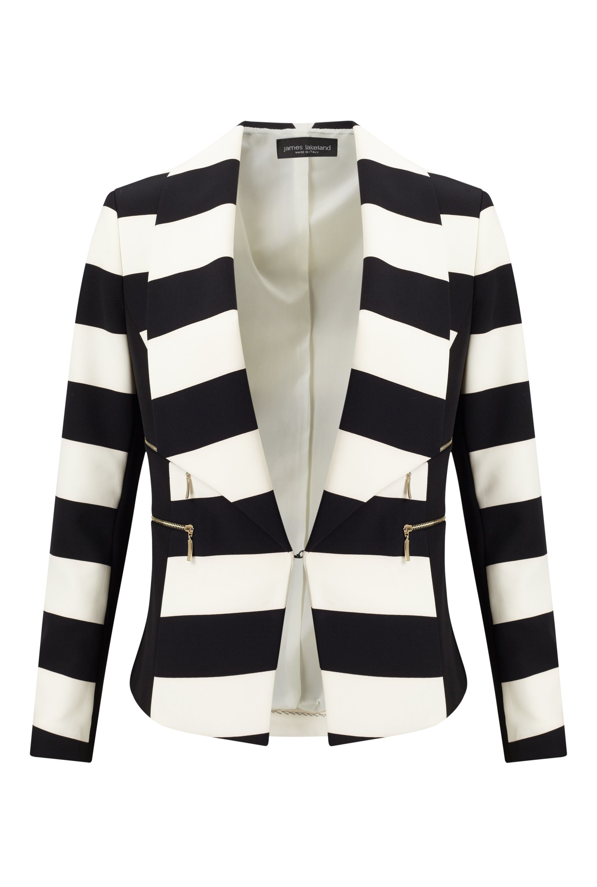 James Lakeland Stripe Blazer Jacket, Black
