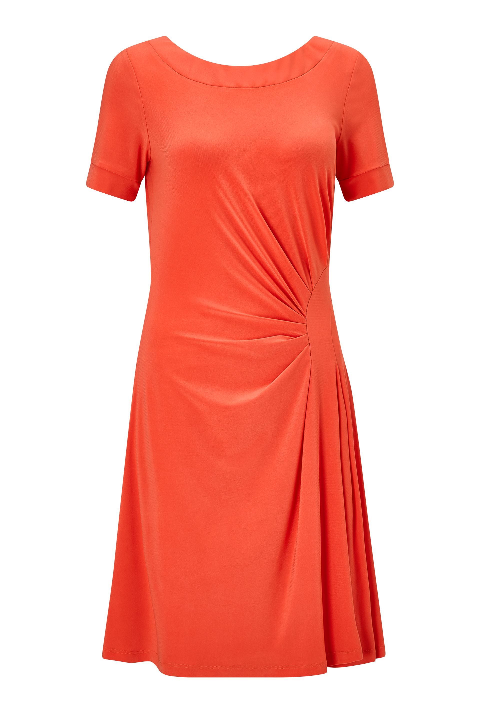 James Lakeland Back V Neck Dress, Orange