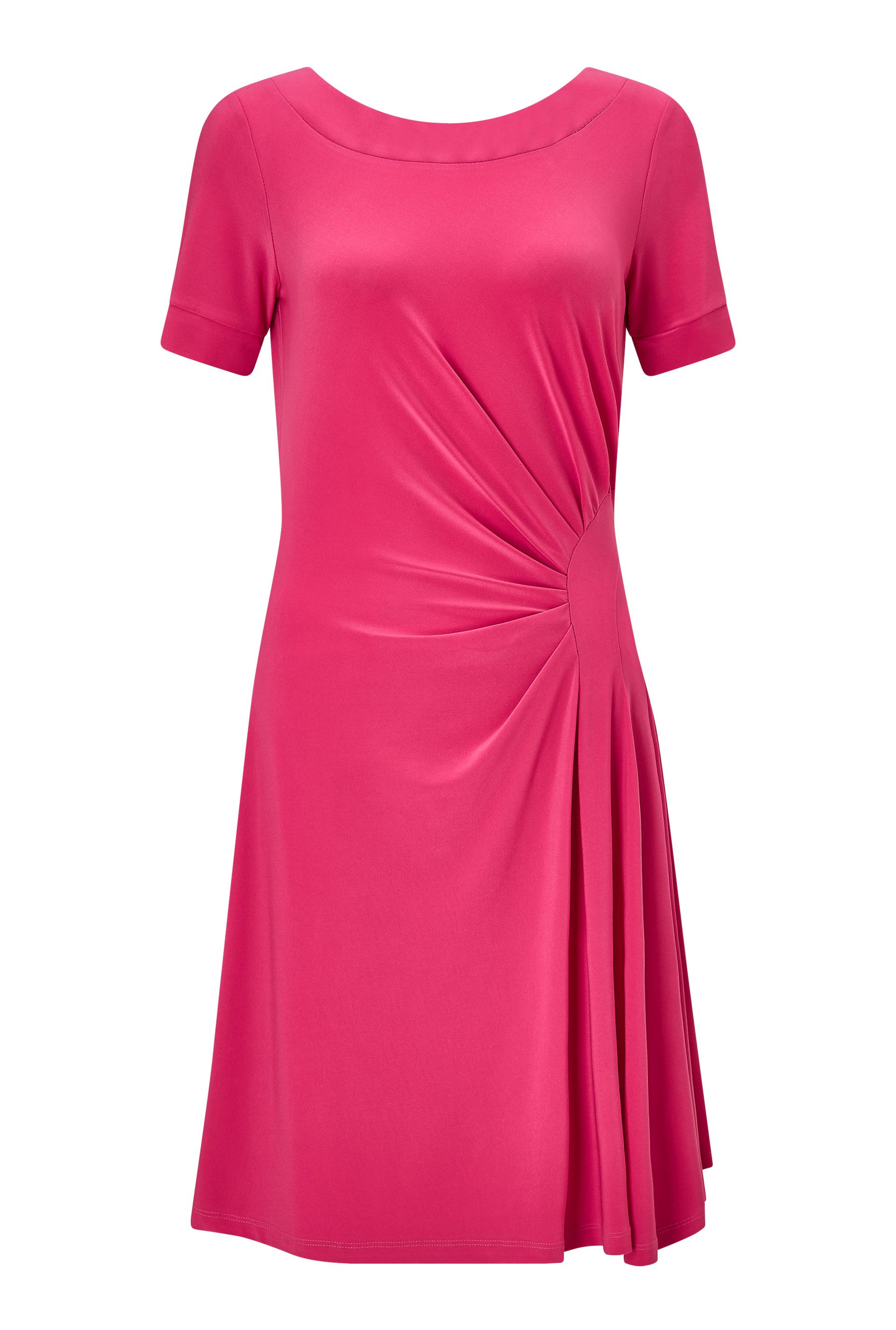 James Lakeland Back V Neck Dress, Pink
