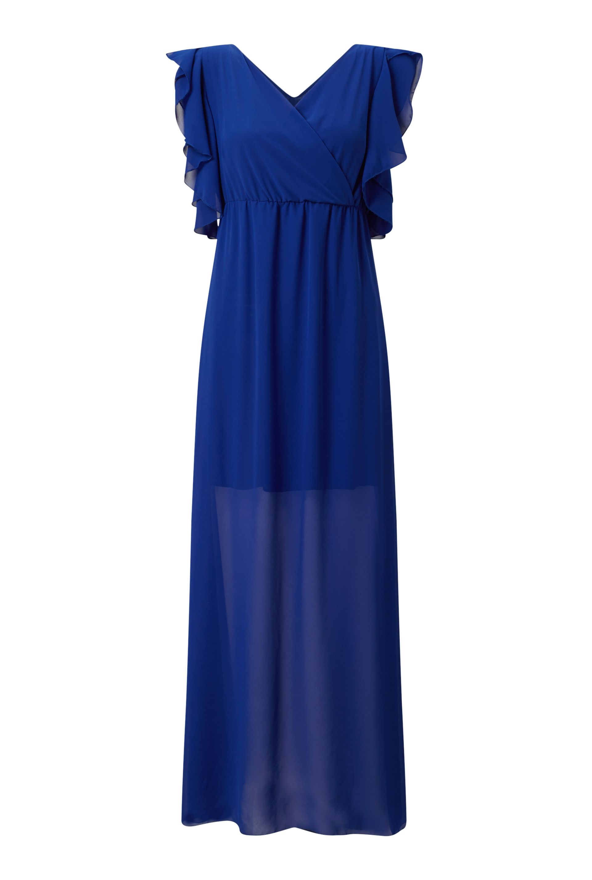 James Lakeland Ruffle Sleeve Maxi Dress, Blue