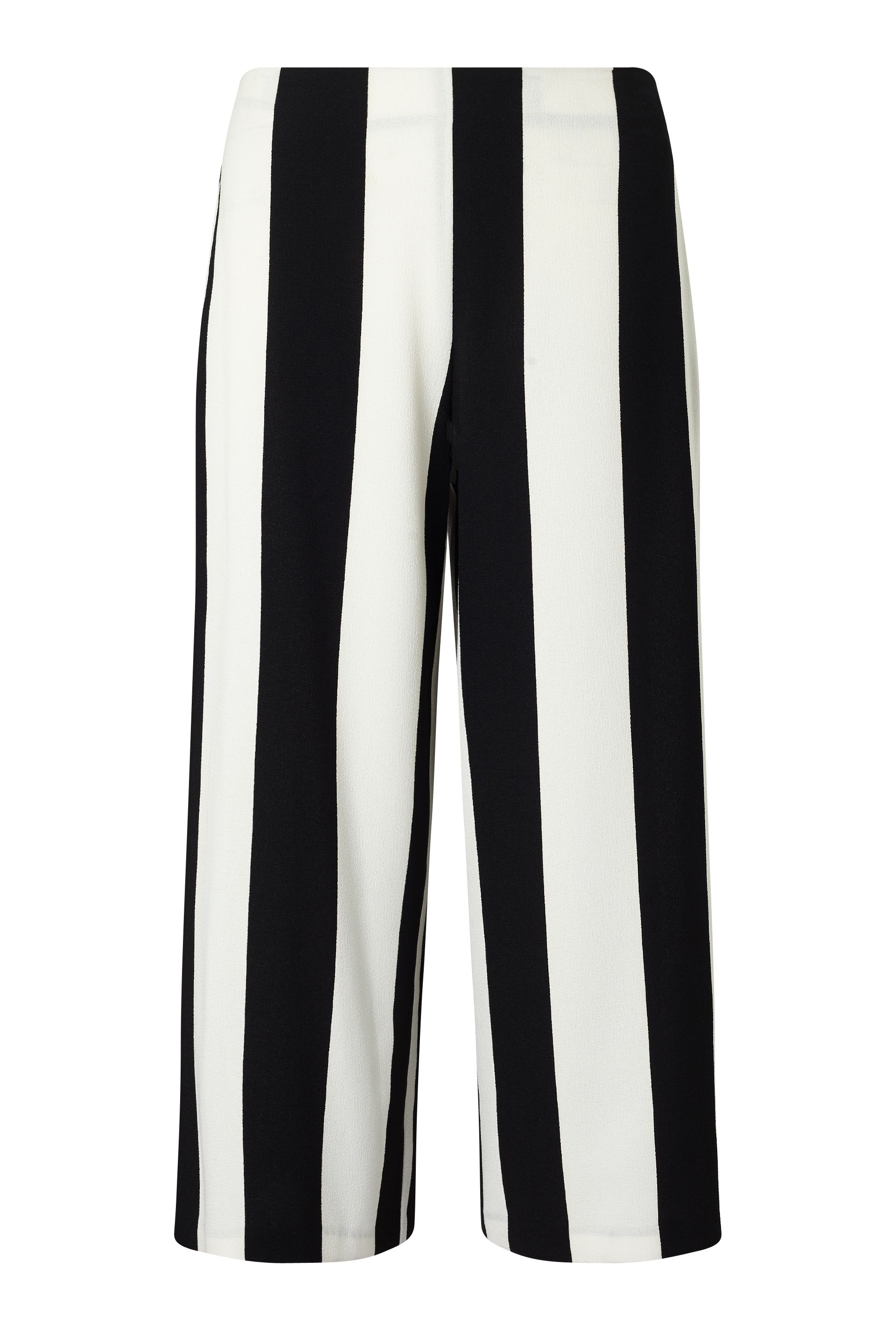 James Lakeland Monochrome Stripe Culottes, Black